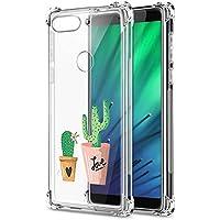 Oihxse Transparente Silicona Funda Compatible con Xiaomi Redmi Note 7/Note 7 Pro Carcasa Ultra-Delgado Suave TPU Gel Airbag Esquinas Anti Rasguños Lindo Protector Case Bumper(A8)