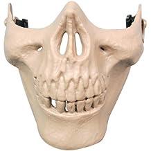 Gleader Mascara Media Cara Craneo Esqueleto para Airsoft (color caqui)