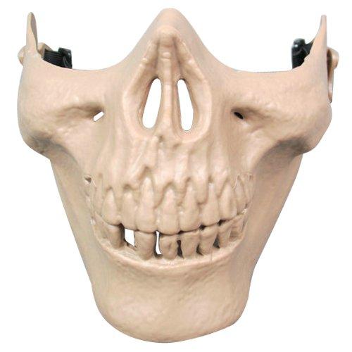 Gleader Airsoft Masque Crane Squelette Airsoft Paintball Moitie Visage Proteger Masque d'Airsoft (Kaki)
