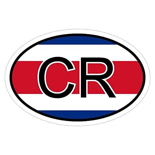 Costa Rica CR in zwei Größen mehrfarbig Autoaufkleber Aufkleber KFZ Flagge -