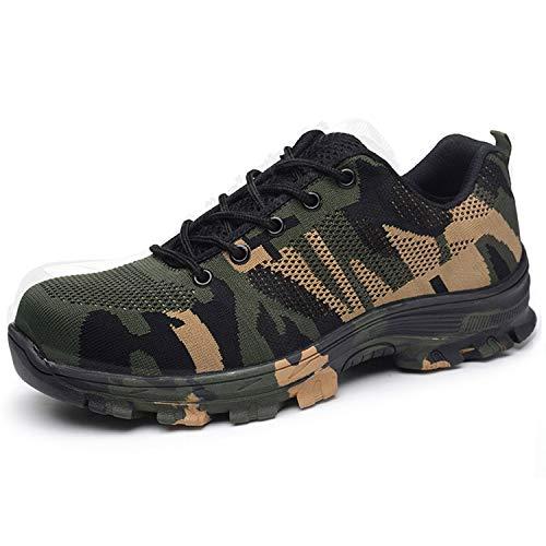 BAOLESEM Arbeitsschuhe Herren Damen S3 Sicherheitsschuhe Herren Leicht Anti-Perforations Schutzschuhe mit Stahlkappen Schuhe