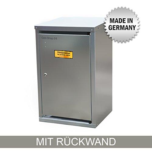 1 x 11 kg Propangas Flaschenschrank / Gasflaschenschrank verzinkt MIT RÜCKWAND (geeignet für 3-, 5, 10, 11 kg Gasflaschen - Gasschrank Schutzschrank)