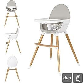 Ibaby Duo 2-in-1 Seggiolone/Junior Chair. Vassoio estraibile. Ultra comodo sedile e facile da pulire