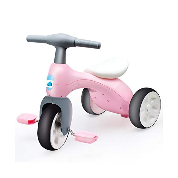 TX Toddler Tricycle Safety Non-Slip 3-6 Years Old Children Boys Girls Lightweight Easy Assemble TX Wheels one-piece closed round the core, avoid foot stuck in the wheels. Bump handle design, comfort grip, non-slip easy to sell. Skid pedals, rotating flexible, easy to slip. 1