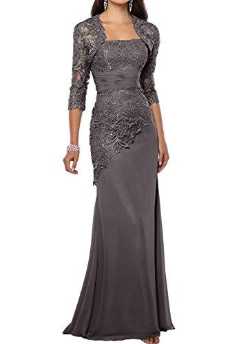Damen Chiffon Spitze Lang Mermaid Abendkleider Partykleider FBA1483 200891