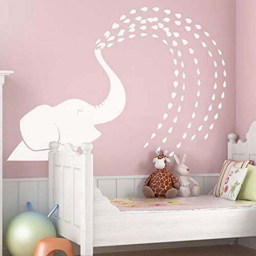 Yzybz Wasser Spray Elefant Wandtattoo Niedlichen Tier Vinyl Aufkleber Für Kinder Schlafzimmer Badezimmer Große Größe Wand Poster ()