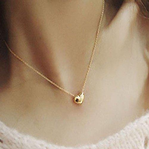 LCLrute Halskette Damen Mode Frauen Gold Herz Lätzchen Anweisungs Ketten hängende Halsketten Schmucksachen (Frauen-herz-tag)