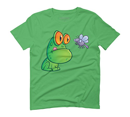 Frog and Dragonfly Men's Graphic T-Shirt - Design By Humans Green