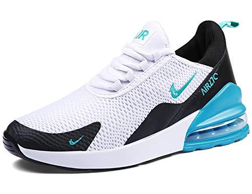 GNEDIAE Uomo AIC 270 a Collo Basso Scarpe da Corsa Cuscino d'Aria Fitness Scarpe da Ginnastica Corsa Running Sneakers Casual all'Aperto Bianco 41 EU