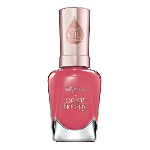 Sally Hansen Color Therapy Nagellack mit Arganöl Aura\'nt You Relaxed?, Rot, sofort pflegender Farblack mit glänzendem Finish, Nr. 320, 1 x 14 ml