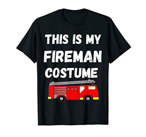 This Is My Feuerwehrmann Kostüm Feuerwehr Auto T-Shirt (Rot Feuerwehrmann Kostüm Frauen)
