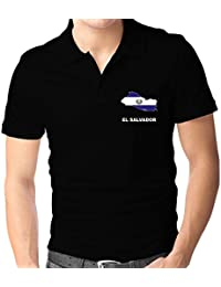 Teeburon El Salvador Country Map Color Polo Camisa