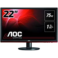 "AOC g2260Vwq6 21.5"" Widescreen TN LED Black/Red Monitor (1920x1080/1ms/VGA/HDMI/DP)"