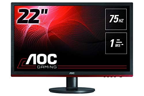 AOC Monitores G2260VWQ6 - Pantalla para PC de 21.5' FHD (resolución 1920 x 1080 Pixels, Flickerfree, FreeSync, Lowblue Mode, Contraste 1000:1, 1 ms, VESA, HDMI, Displayport)