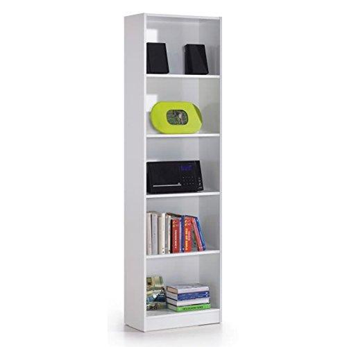 Foto de Links Hugo b2 - Biblioteca de 5 compartimentos, melamina, color blanco
