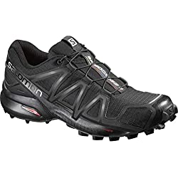 Salomon Femme Chaussures de trail running, SPEEDCROSS 4 W, Couleur: Noir (Black/Black/Black Metallic), Pointure: EU 38
