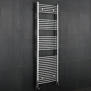 Kudox Premium Chrome Curved Heated Bathroom Towel Radiator Rail 1800mm x 600mm