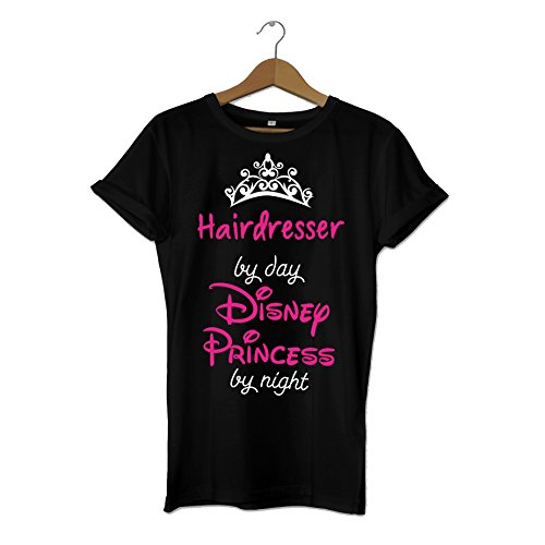 SMARTYPANTS Hairdresser by Day, Disney Princess by Night - Funny Princess Gift Disney Inspired Slogan T-Shirt