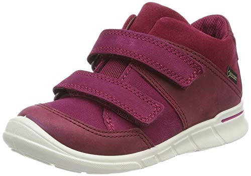 Ecco First, Girls' Hi-Top Trainers , Red (Morillo/Red Plum/Morillo 51289), 3  Child UK  (19 EU)