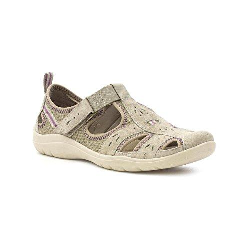 Earth Spirit Khakifarbiger Beiläufiger Sport-Schuh für Frauen durch Größe 5 UK/38 EU - Grün (Spirit Earth Schuhe)