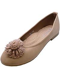 3bb0b37eaff Amazon.co.uk: Green - Ballet Flats / Girls' Shoes: Shoes & Bags