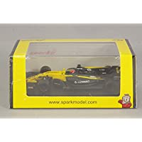 SPARK Renault – RS 17 F1 Team – GP Bahrain 2017 Coche de ferrocarril de Collection, y054, Negro/Amarillo