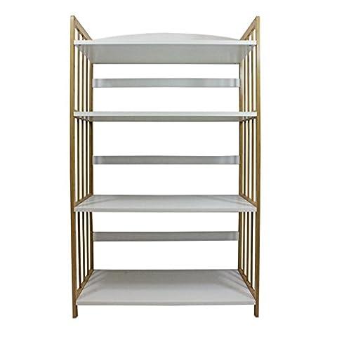 2 Tier 4 Tiers Bamboo MDF Bookcase Bookshelf Shelving Storage Organiser rack CD DVD Book Storage Unit Decorative Display Shelf (4 Tiers