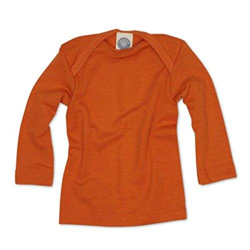 Cosilana Baby Schlupfhemd, Größe 62/68, Farbe Safran-Orange, 70% Wolle und 30% Seide kbT