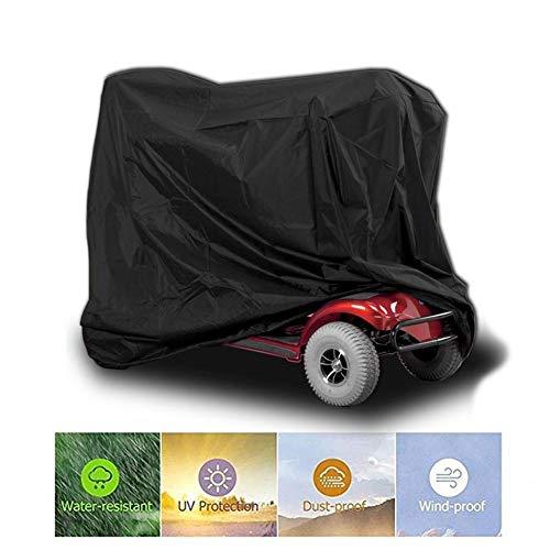 Binwe Rollerabdeckungen Für Mobilitätsroller Rollstuhlabdeckung, wasserdicht und leicht, Regenschutz vor Staub, Schmutz, Schnee, Regen, Sonnenstrahlen - 170 61 117 cm