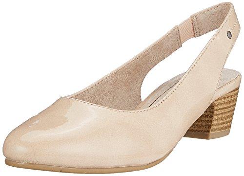 Softline Damen 29561 Slingback Sandalen, Beige (Dune Patent), 40 EU (Sandalen Damen Patent Beige)