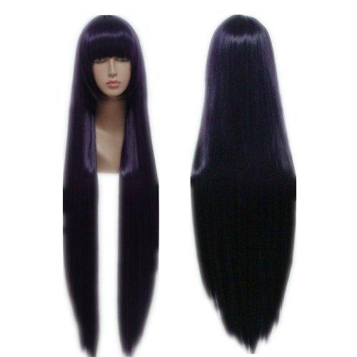 COSPLAZA Cosplay Wigs Kostueme Peruecke Inu x Boku SS Shirakiin Ririchiyo lange gerade lila 100cm Karneval Party ()