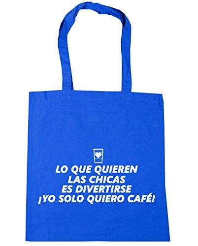 HippoWarehouse Algunas Chicas Quieren Diversión. ¡Yo Solo Quiero Café! Bolso de Playa Bolsa Compra Con Asas para gimnasio 42cm x 38cm 10 litros capacidad