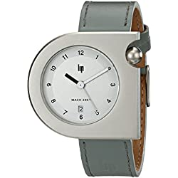 Lip Créateur 1892222 Roger Tallon Gents Watch Quartz Analogue White Dial White Leather Strap