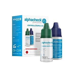 ALPHACHECK professional Kontrolllösung A+B Kombi 8 ml Lösung
