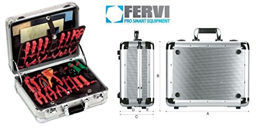 Fervi valigia porta utensili alluminio 44x39