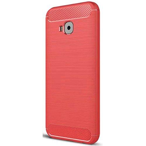 ASUS zenfone 4 Selfie zD552kl Hülle, Ultra Light Slim Shockproof Silikon TPU [Anti Slip] [Kratzfest] Case für ASUS zenfone 4 Selfie zD552kl Schutzhülle - Rot