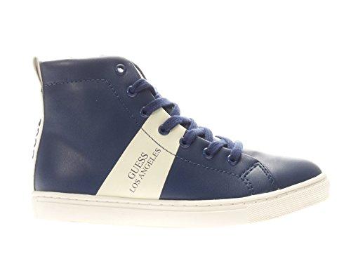 GUESS - Blauer Sneaker mit Schnürsenkeln aus Leder, seitlich ein Reißverschluss, Jungen, Herren-29 (Guess Kinder Schuhe)