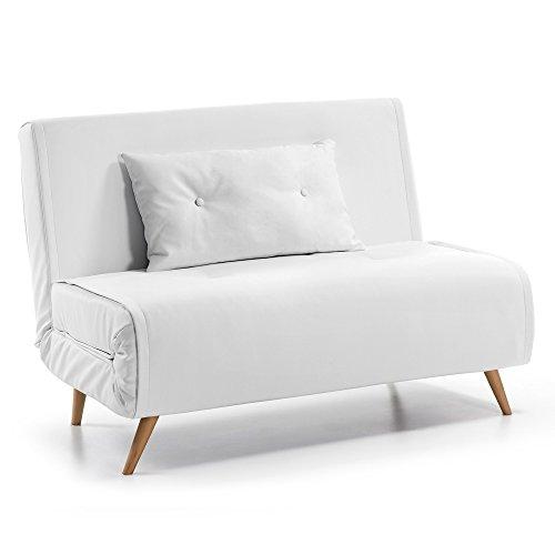 Kave Home Sofá cama Tupana, blanco