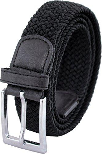 Ashford Ridge 33mm (1.25') cinturón elástico negro (tamaños 110cm - 120cm)