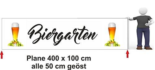 Bannière publicitaire 400 x 100 cm bière Jardin blé
