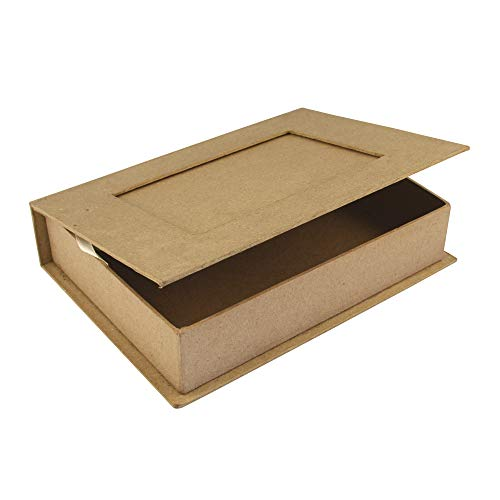 Rayher 71747000 Pappmaché Buch-Box FSC Recycled 100{2bf20d2adb96745c407d3de0f2935971423bc061411e08c39f602eec4154cf23}, 22,8x16x5cm, m.