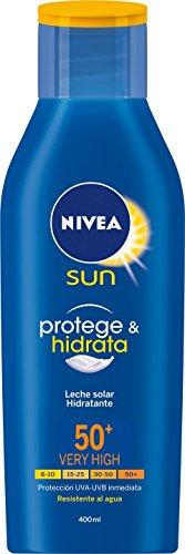 Lote Nivea Sun: Crema Solar Hidratante FP50+ 400 ml + Loción After Sun 400 ml + Crema Solar Facial Control de Brillos FP50 50 ml