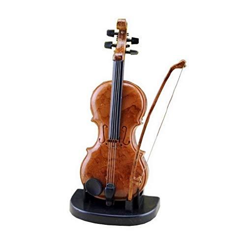 XYZMDJ Klassische hölzerne Spieluhr, kreative Violinen-Entwurf Music Box mit mehr als One Song