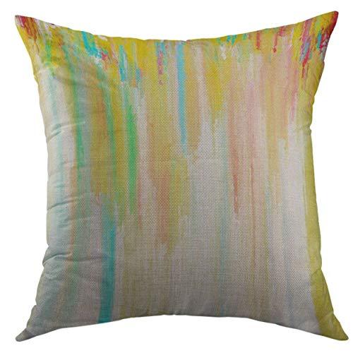 SKDJFBUD Decorative Throw Pillow Cover for Couch Sofa,Eyelash False Eyelashes Mascara Brush Black Grunge Swatch in Heart Shape Woman's Cosmetics Eyeliner Home Decor Pillow case 18x18 Inch -
