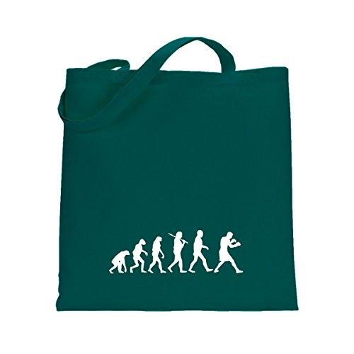 Shirtfun24 Baumwolltasche EVOLUTION BOXER Boxen, emerald (grün) emerald grün