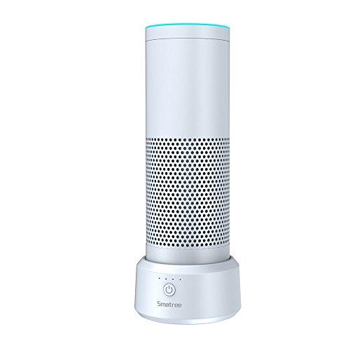 Smatree AE18000 Intelligente Batteriebasis für Echo(Alexa)(Nicht geeignet für New Echo 2. Generation und Echo Plus) (Weiß) Circa Dot