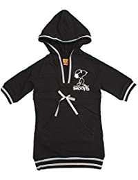 Girls Snoopy Glitter Trim Sweat Hoody Tunic Long Top with Bow 8 to 12 Years