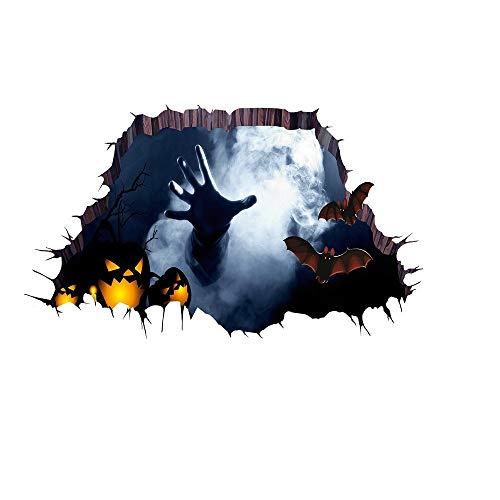 Etiqueta de la pared de BaZhaHei, 3D Happy Halloween Household Floor Floor...