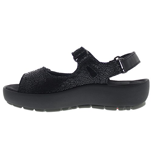 Wolky Womens Rio Leather Sandals Black
