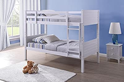 Cloudseller Milano Bunk Bed Single Pine Frame Only: Splits into 2 Beds